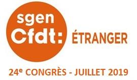 24e congrès du Sgen-CFDT Etranger - juillet 2019